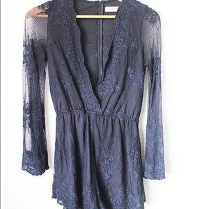 Beautiful Black Lace Romper